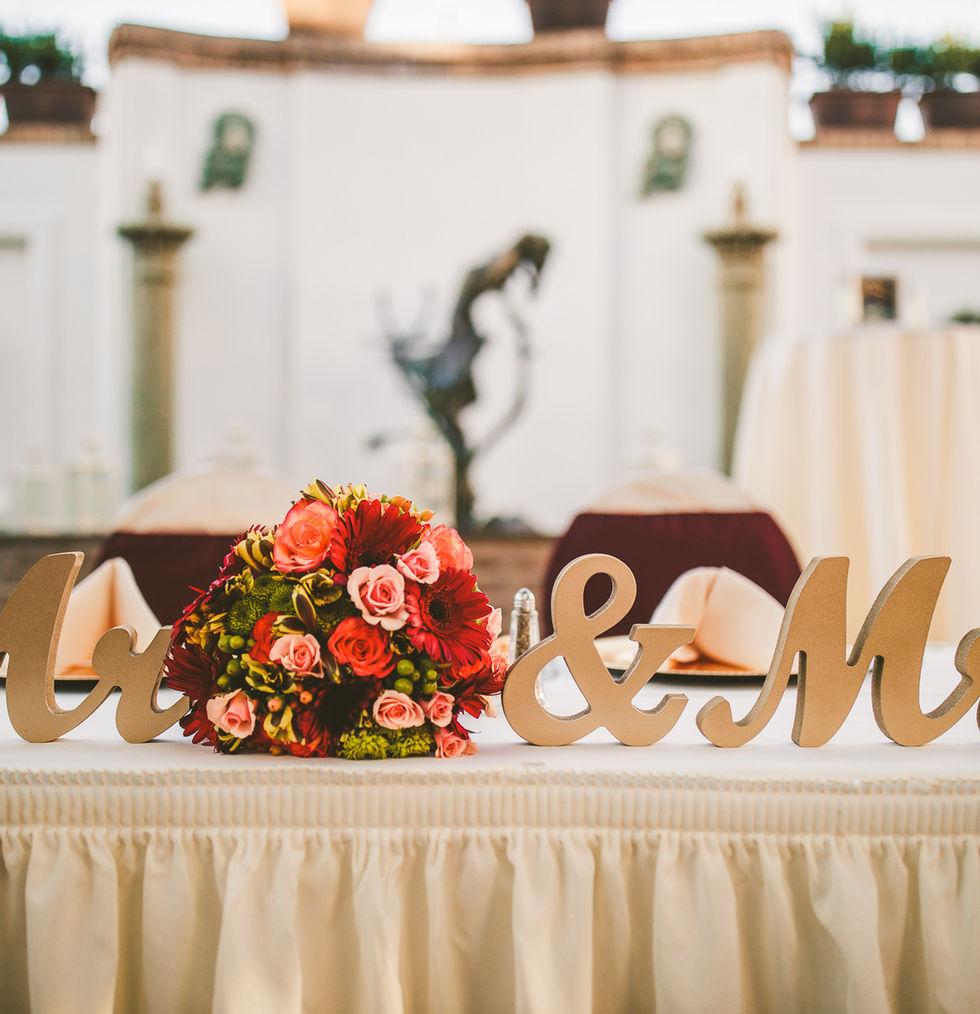 Sweetheart table outside