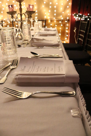 Private dining custom menu