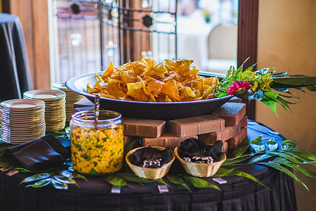 Chips and salsa station at The Courtyard at Gaslight Square