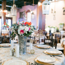 Tablescape for wedding reception