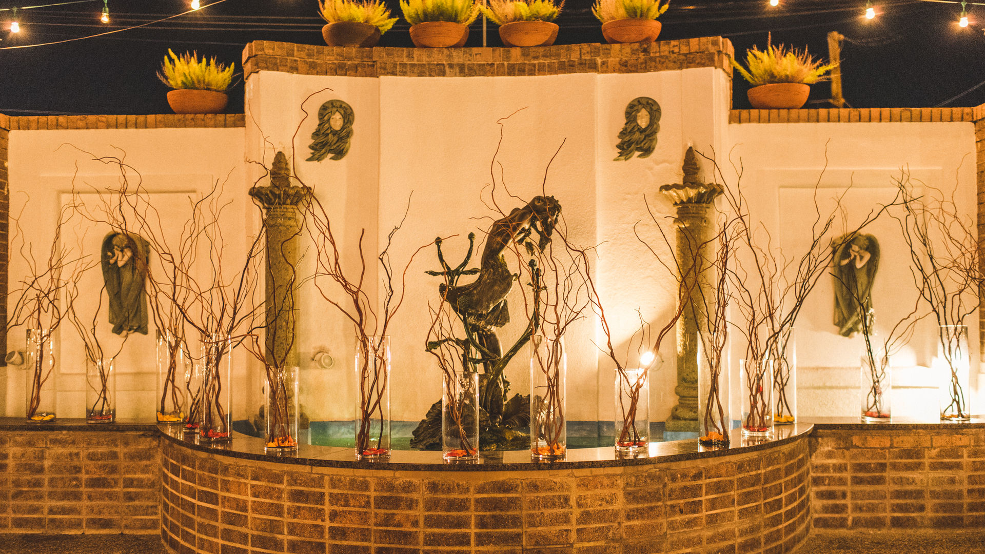 Decorations on the fountain