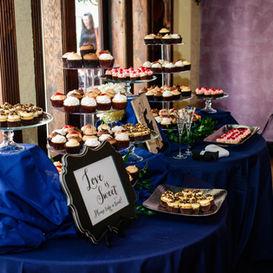 Dessert table at wedding reception