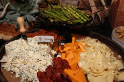 Cheese Display and Roasted Asparagus