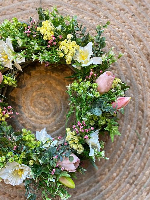 Artificial Flower Spring Wreath