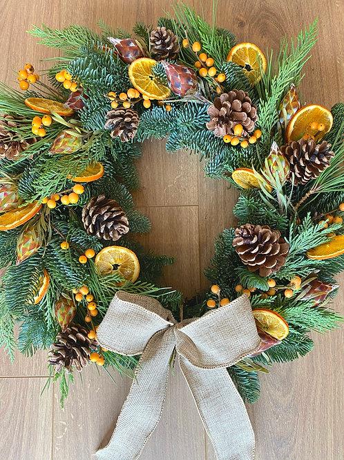 'Orange Delight' Christmas Wreath