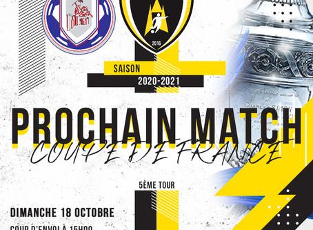 COUPE DE FRANCE - 5ème tour le dimanche 18 octobre 2020