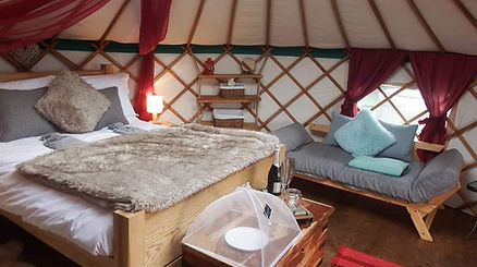 Inside Dandelion Hill Yurt