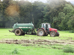 Farm tractor and tanker