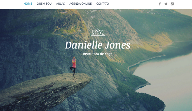 Esportes e Recreação website templates – Instrutor de Yoga