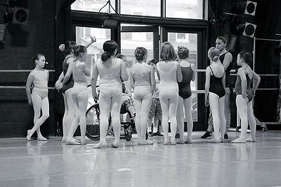 Mill Ballet School, Lambertville, NJ Young dancers speak with teacher