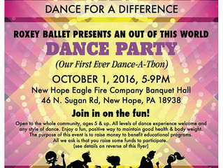 October 1st Dance-A-Thon: Fundraiser for Education
