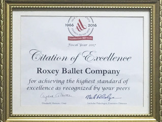 Roxey Ballet Recognized by NJ State Council of the Arts