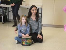 Christina student drumming .JPG