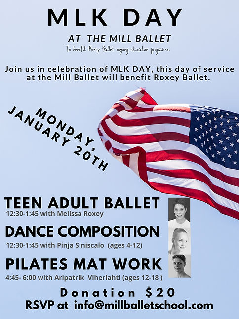 Community Offerings at the Mill Ballet
