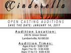 """""""Cinderella"""" Open Auditions Held January 14"""