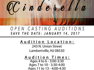 """Cinderella"" Open Auditions Held January 14"