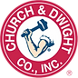 Church and Dwight Logo with person arm and hammer