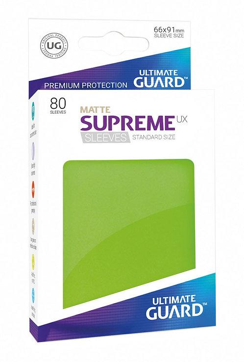 Ultimate Guard Supreme UX Sleeves Standard Size Matte Light Green