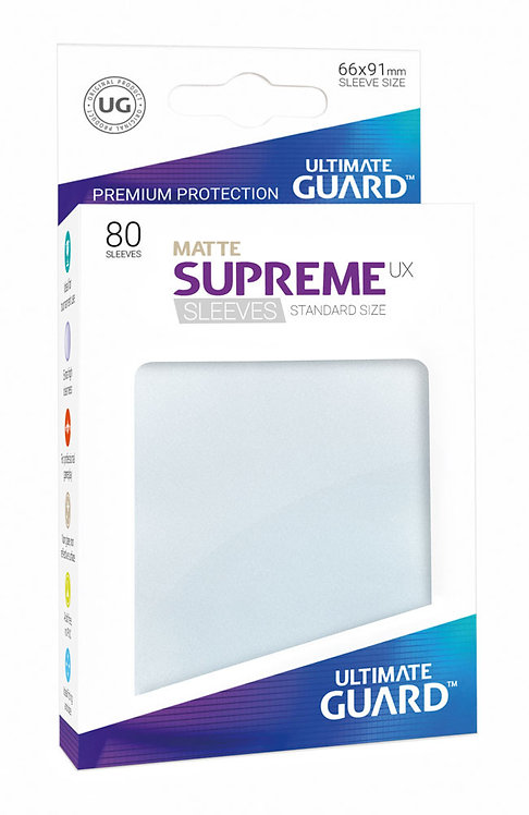 Ultimate Guard Supreme UX Sleeves Standard Size Matte Frosted