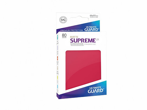Ultimate Guard Supreme UX Sleeves Standard Size Matte Red
