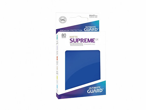 Ultimate Guard Supreme UX Sleeves Standard Size Matte Blue