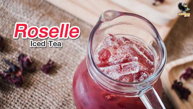 เมนูชากระเจี๊ยบเย็น Roselle Iced Tea