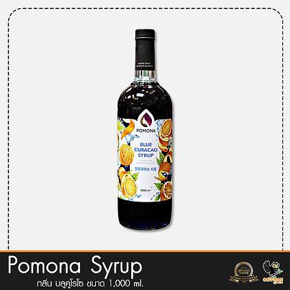 Pomona ไซรัปกลิ่น บลูคูโรโซ Blue Curacao Syrup