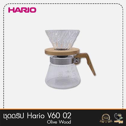 ชุดดริป Hario V60 Olive Wood