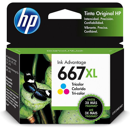 Cartucho HP 667 XL Colorido