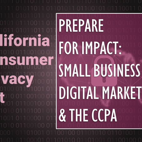 Prepare for Impact: Small Business Digital Marketing and the CCPA