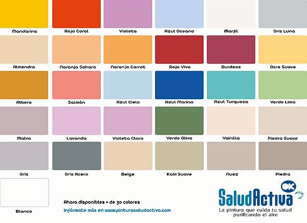 Paleta colores salud activa pintura fotocatal tica for Paleta de colores pintura