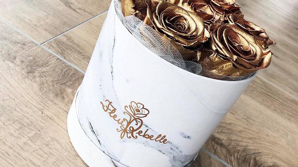 FleuRebelle Flowerbox 7 Roses Marble Edition