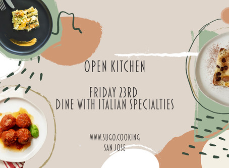Friday, October 23rd: Open Kitchen