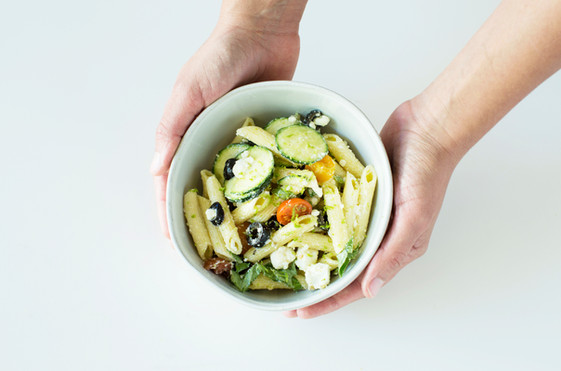 Zucchini and lime pasta salad