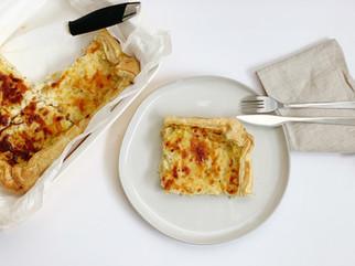 Leeks and potatoes quiche