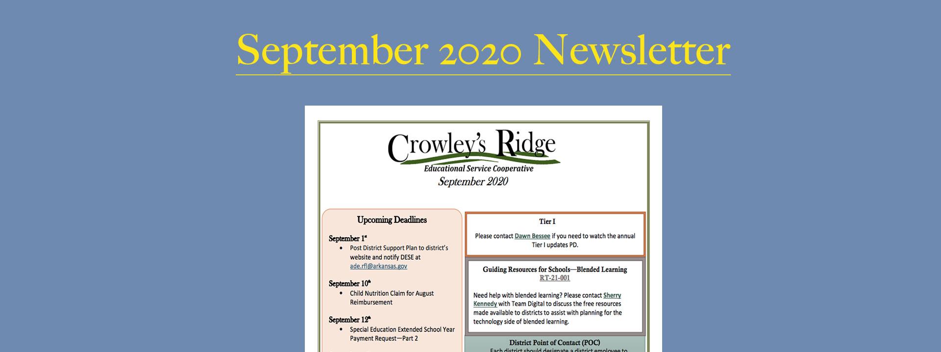 September2020 Newsletter