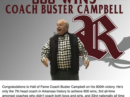 Riverside Basketball - Coach Buster Campbell collects 900 career victories.