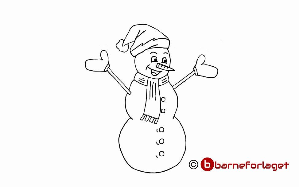 Fargelegg Snømann eventyr Barneforlaget