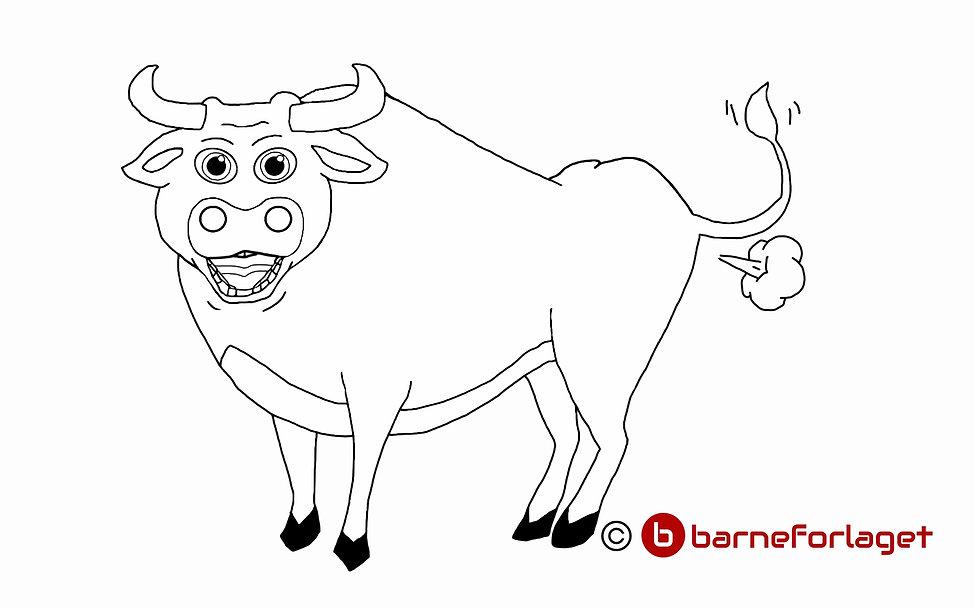 Fargelegg Oksen Ferdinand eventyr barneforlaget