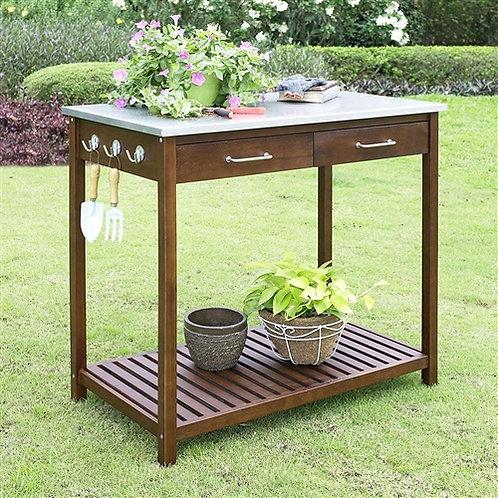 Home > Outdoor > Gardening > Potting Benches > Outdoor Solid Wood Potting Ben