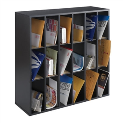 Home > Office > Letter Holders > Wood 18 Compartment Mail Sorter Letter Holde