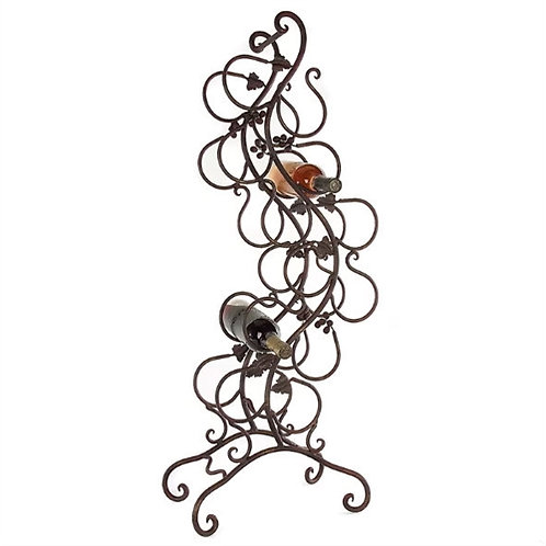 Home > Kitchen > Wine Racks and Coolers > Wrought Iron 12-Bottle Wine Rack wi