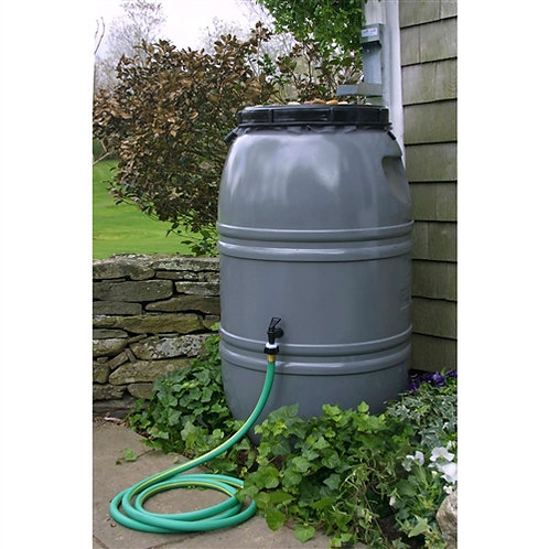 Home > Outdoor > Gardening > Rain Barrels > Grey 60-Gallon Re-purposed Rain B