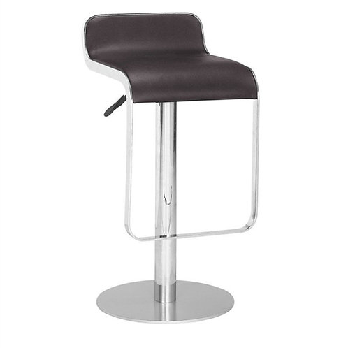 Home > Dining > Barstools > Modern Bar Stool with Espresso Brown Faux Leather
