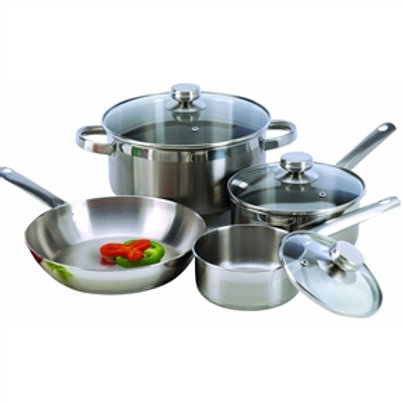 Home > Kitchen > Cookware Sets > 7-Piece Cookware Set Constructed in 18/10 St