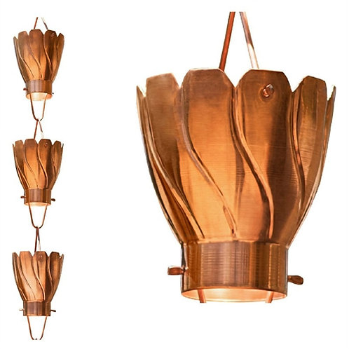 Home > Outdoor > Gardening > Rain Chains > Copper 8.5 Ft Floral Petal Cups Ra
