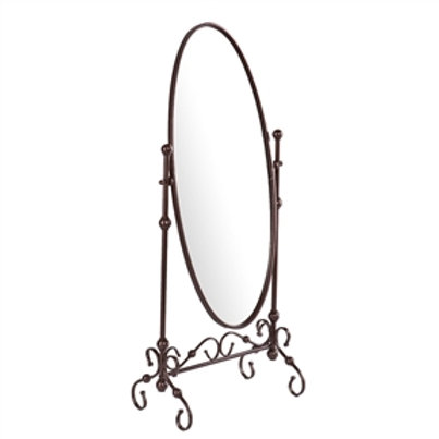 Home > Accents > Mirrors > Antique Bronze Finish Metal Cheval Floor Mirror