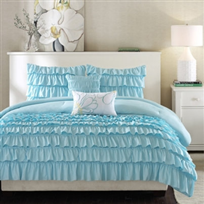 Home > Bedroom > Comforters and Sets > Light Blue Full/Queen 5-Piece Comforte