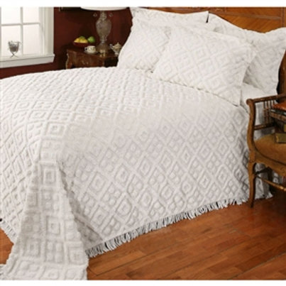 Home > Bedroom > Bedspreads > Twin size 100% Cotton Bedspread with White Diam