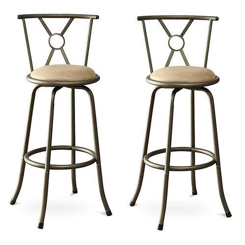 Home > Dining > Barstools > Set of 2- Adjustable Height Padded Seat Barstools